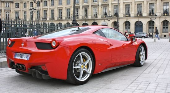 FERRARI 458 ITALIA COUPE hire , rent , location , alquiler , aluguel with ParisLuxuryCar
