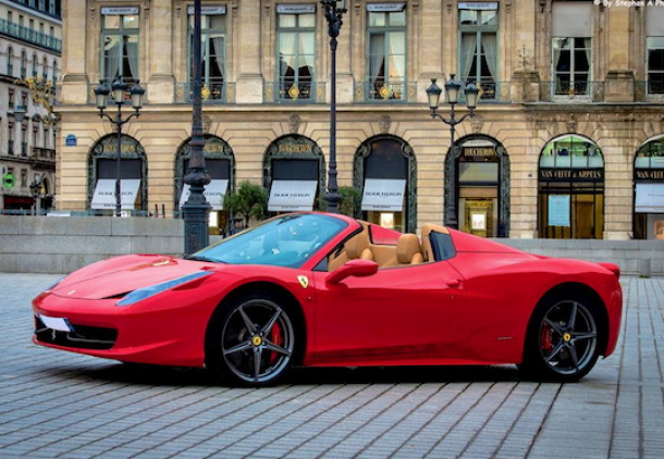FERRARI 458 ITALIA SPIDER hire , rent , location , alquiler , aluguel with ParisLuxuryCar